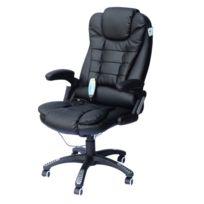 HOMCOM - Chaise de bureau pivotante fauteuil direction de massage electrique massant relaxation noir