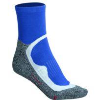 James & Nicholson - Chaussettes courtes de sport - homme femme - Jn210 - bleu et gris