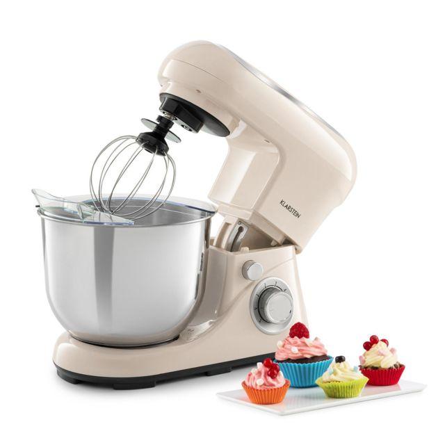 KLARSTEIN Bella Pico 2G Robot de cuisine 5 litres 6 vitesses 1200W - crème