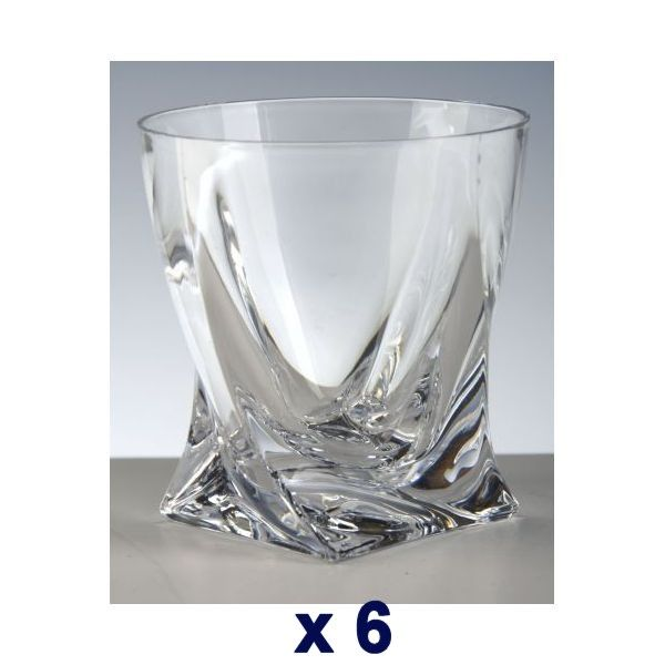 Cristal De Paris   Gobelets Whisky Cristal Quadra Blanc Boîte De 6   Pas  Cher Achat / Vente Verre à Whisky   RueDuCommerce