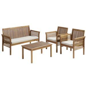 carrefour salon bas de jardin hano 4 pi ces bois. Black Bedroom Furniture Sets. Home Design Ideas
