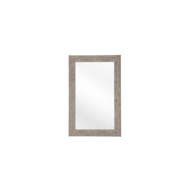 BELIANI Miroir marron 60 x 91 cm NEVEZ - marron foncé