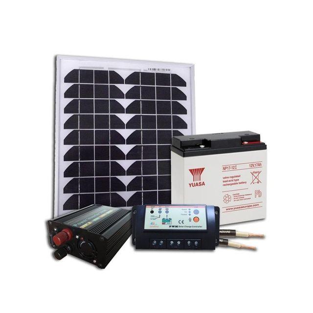 sellande kit solaire 12v 20w 81wh par jour autonome pour site isole pas cher achat vente. Black Bedroom Furniture Sets. Home Design Ideas