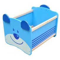 I M Toy - Coffre à jouets en bois ours bleu