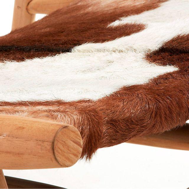 Kavehome - Fauteuil Eki Blanco, Marron, Natural