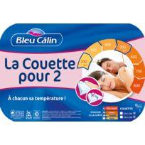 Bleu Calin - Couette pour 2 speciale couple