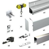 Wimove - Pack Premium volet coulissant 1 vantail - Rail 2 m - 80 kg