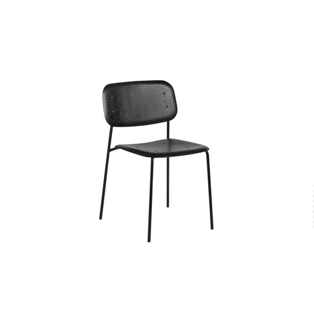 Hay Chaise Soft Edge Steel Frame - décapé noir - noir