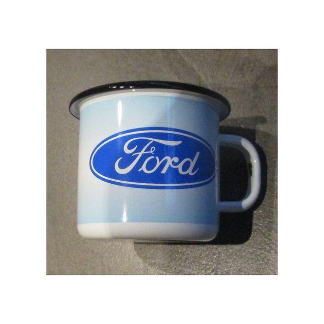 Universel Mug ford logo ovale bleu en email tasse à café emaillée bar