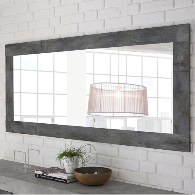 Sofamobili Miroir mural design gris foncé Serena