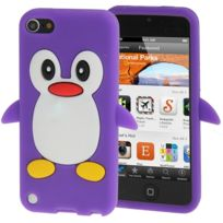 Techexpert - Coque silicone cartoon Pingouin violet pour ipod touch 5 et ipod touch 6