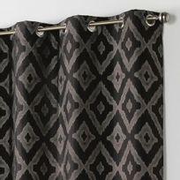 rideau noir et argent achat rideau noir et argent pas cher soldes rueducommerce. Black Bedroom Furniture Sets. Home Design Ideas