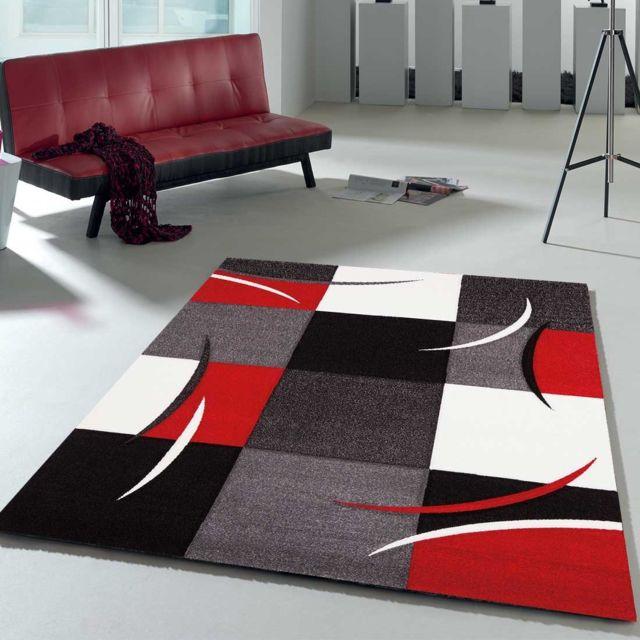 un amour de tapis tapis de salon moderne design diamond 665 110 80x150 amz rouge pas cher achat vente tapis rueducommerce - Tapis Moderne