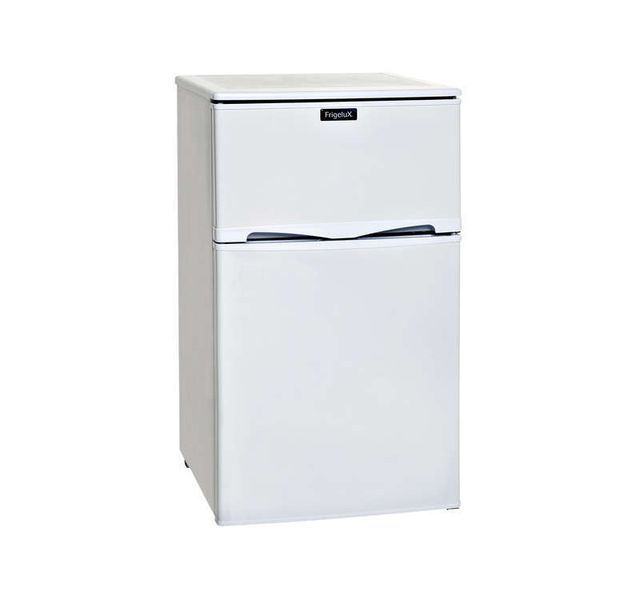FRIGELUX Réfrigérateur 2 portes - RFDP96A+ - Blanc • Volume brut: 96L (Volume net: 90L; réfrigérateur: 63 L et freezer 27 L) • Compartiment freezer 3* • 1 clayette fil • Classe énergétique: A+ • Bonde d