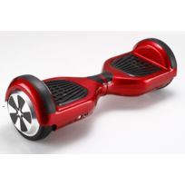 SmoothTech - Hoverboard Scooter electrique auto-équilibrage 6,5 inch rouge à patins noirs Gyropode skate Self Balancing smart board