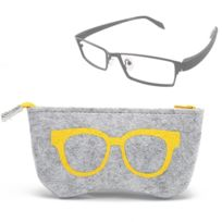Pour les lunettes de soleil jaune   verres Motif de lunettes a senti le cas  de 4bfe401b36d8