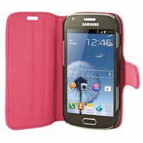Mocca - étui folio vernis rose fluo pour Samsung Galaxy Trend S7560 / S Duos S7562