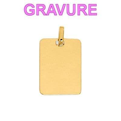 Sochicbijoux So Chic Bijoux © Pendentif Mixte - Or Jaune 375/000 9 carats, 0,60gr - Dimensions : 12 x 15 mm hors bélière Médaille Rec
