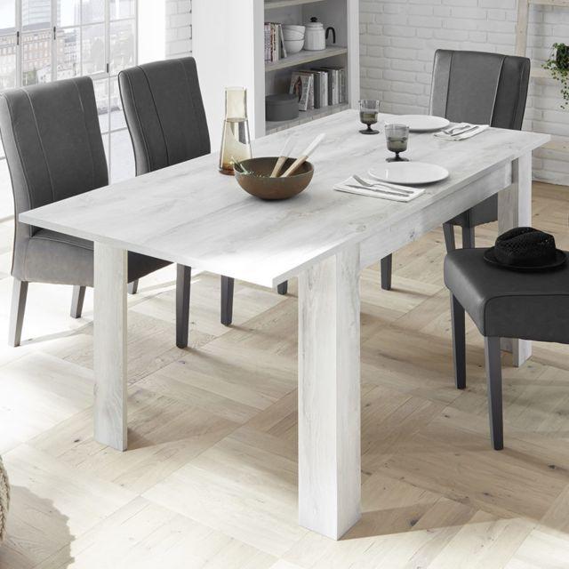 Sofamobili Table a rallonge 180 contemporaine couleur pin Serena 3