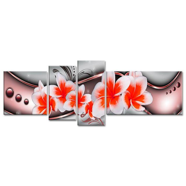 declina tableau xxl pas cher deco moderne abstraite fleurs 130cm x 160cm pas cher achat. Black Bedroom Furniture Sets. Home Design Ideas