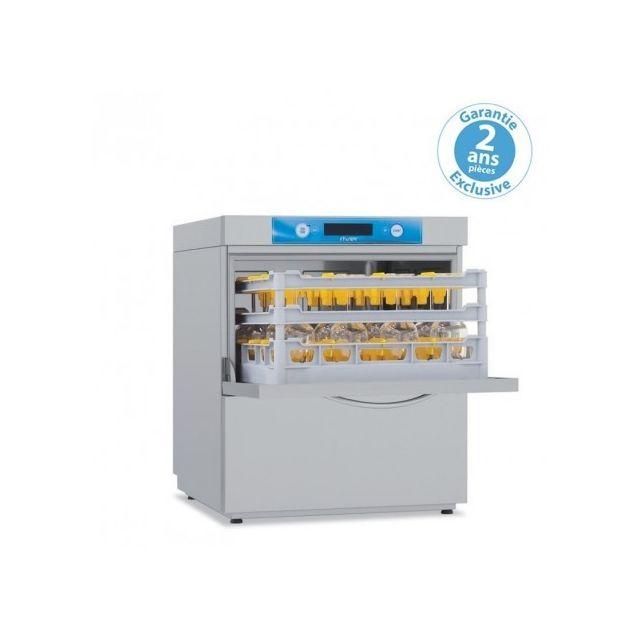 Materiel Chr Pro Lave-verres/vaisselle adoucisseur en continu - panier 500 x 500 mm - Elettrobar - 400V triphase
