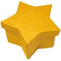 La Fourmi - boites en carton à décorer forme étoile 8x8x5 cm - lot de 10