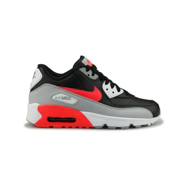 Nike Air Max 90 Leather Junior Noir pas cher Achat