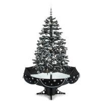 Everwhite Sapin de Noël Simulation chute de neige 180cm LED noir
