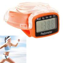 Wewoo - Podomètre numérique 3D de couverture orange de style de coeur de coeur, compteur d'étape / distance a voyagé / calculatrice de calorie