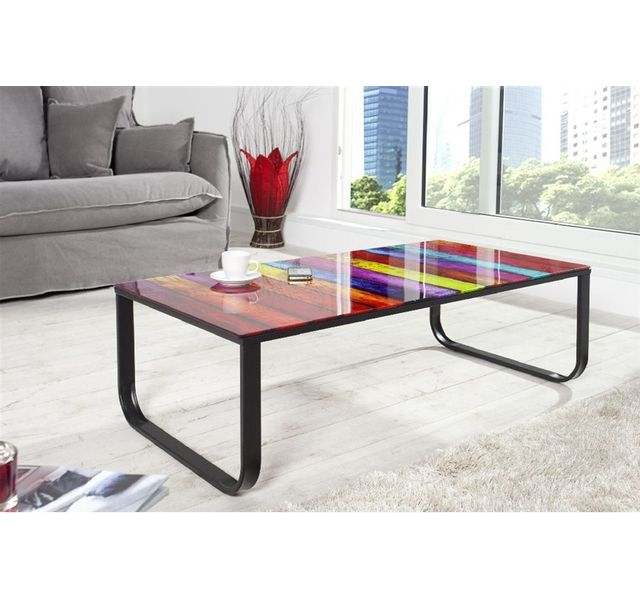 CHLOE DESIGN Table basse design Ribo - multicolore
