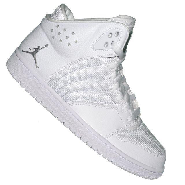save off 59997 67bac Nike - Basket Sneaker - Jordan 1 Flight 4 - Blanc Argent - pas cher Achat    Vente Baskets homme - RueDuCommerce