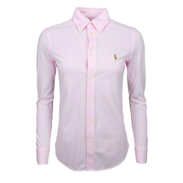 Ralph Lauren - Chemise polo en coton piqué rose pour femme - pas cher Achat    Vente Chemise femme - RueDuCommerce 7b8eadef2e67