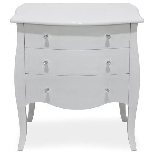 menzzo commode classico en bois laqu blanc pas cher achat vente commode rueducommerce. Black Bedroom Furniture Sets. Home Design Ideas