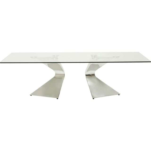 Karedesign Table basse Gloria chromée 140x82cm Kare Design