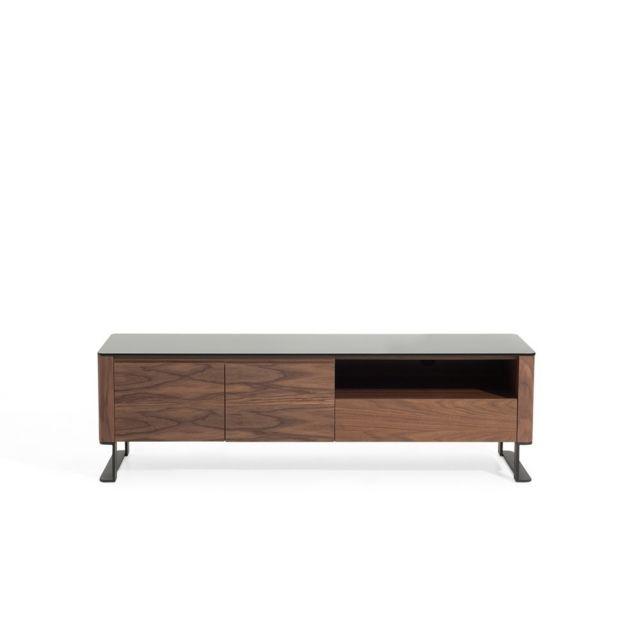 BELIANI - Meuble TV - meuble de rangement - couleur noyer - Elvas