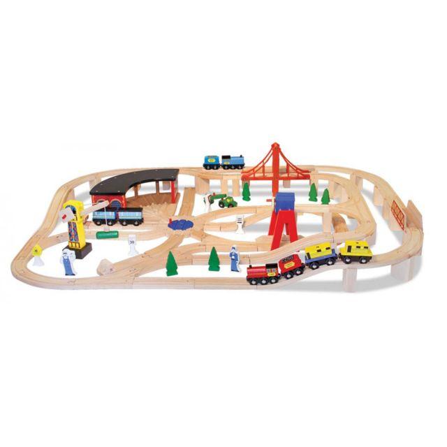 Melissa And Doug Railway Set