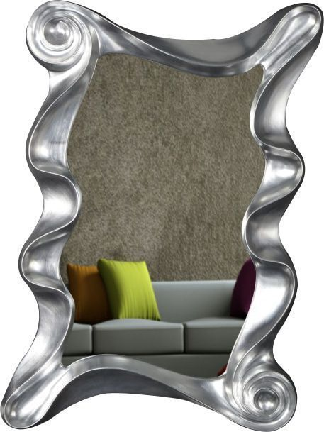 Comforium Miroir mural 160 cm ultra design coloris argent