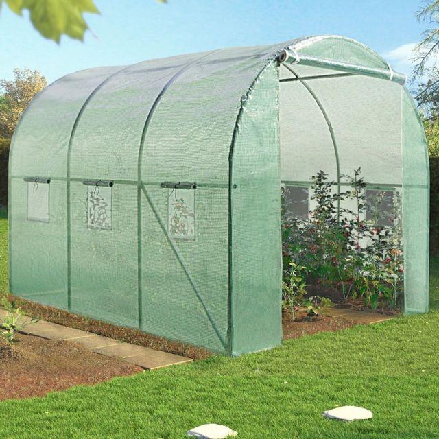 idmarket serre de jardin tunnel 6m en acier galvanis pas cher achat vente serres en. Black Bedroom Furniture Sets. Home Design Ideas