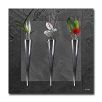 Boniday - Tableau plexiglass Déco Soliflores Noir 30 x 30 cm