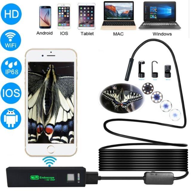 Caméra d/'inspection USB Borescope imperméable à l/'eau endoscopique HD de
