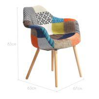 fauteuil scandinave patchwork achat fauteuil scandinave patchwork pas cher rue du commerce. Black Bedroom Furniture Sets. Home Design Ideas