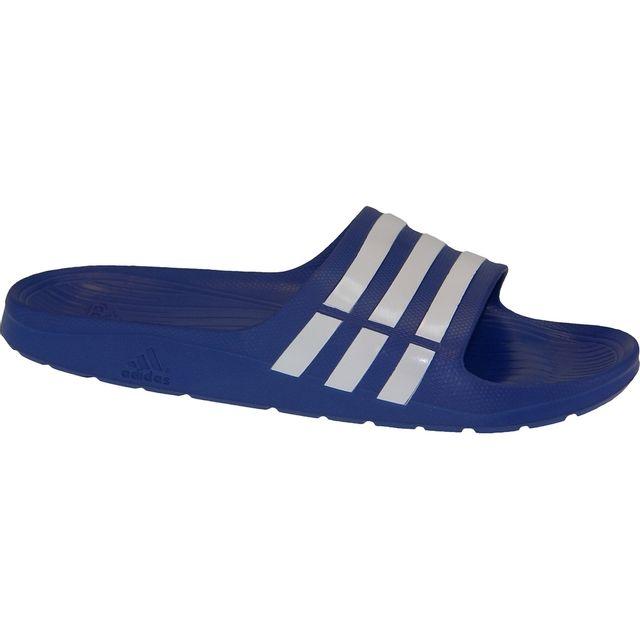 0a71f9e4ad8 Adidas - Duramo Slide G14309 Bleu - pas cher Achat   Vente Sandales et tongs  homme - RueDuCommerce