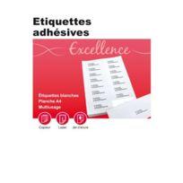Majuscule - etiquette adresse coin rond 9,9x 3,8 - boite de 1400