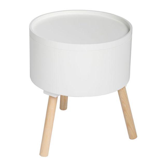 atmosphera table basse oshi blanc pas cher achat vente meubles tv hi fi rueducommerce. Black Bedroom Furniture Sets. Home Design Ideas