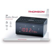 Thomson - Radio Réveil Noir Cr50