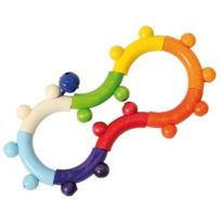 Hess - Hochet en bois 8 couleurs