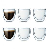 BODUM - set de 6 verres double paroi 8cl - 4557-10-12
