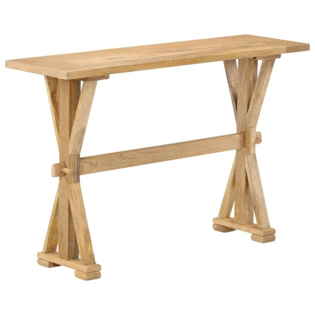 Consoles edition Saint-Marin Table console Bois de manguier massif 118 x 35 x 76 cm