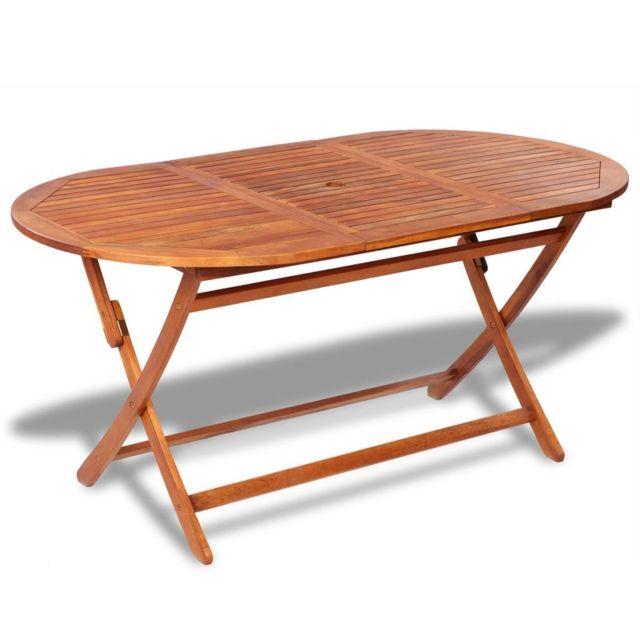 Table de salle à manger d\'extérieur en bois d\'acacia