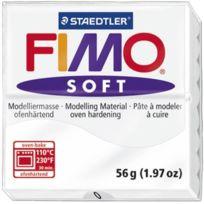 Staedtler - Pâte a modeler a cuire Fimo Soft bloc 56 g blanc